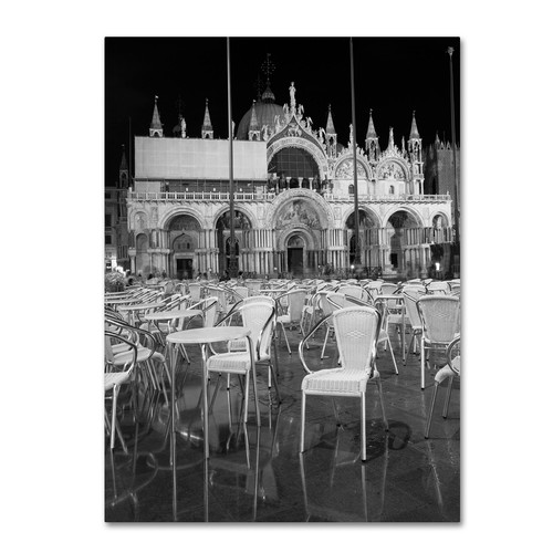 Trademark Global Moises Levy 'Chairs In San Marco' Canvas Art [Overall Dimensions : 14x19]