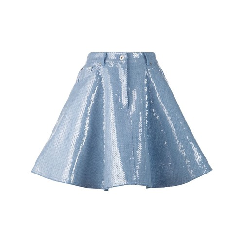 MOSCHINO Sequin Embellished Denim Skirt