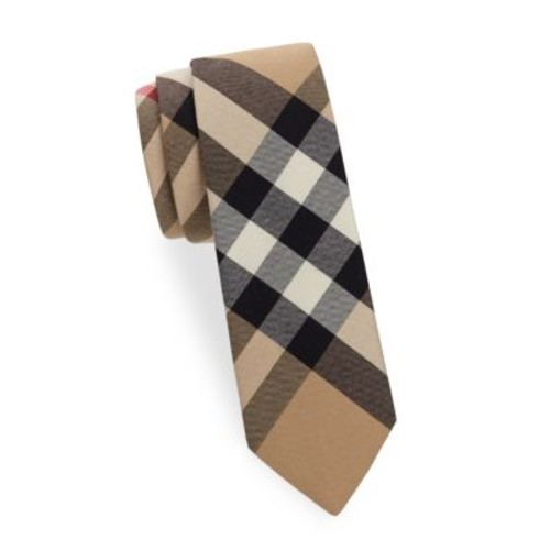 BURBERRY Manston Exploded Plaid Narrow Tie