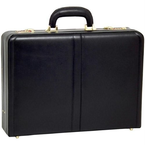 McKlein USA Turner Leather Expandable Attache Case [Black, One Size]