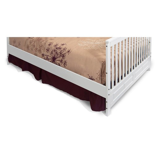 Child Craft Full-Size Conversion Bed Rails for Crib, Matte White [Matte White]