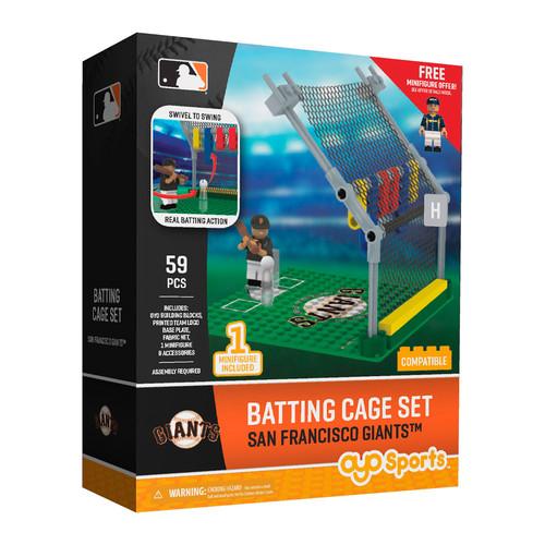 OYO Sports MLB Batting Cage San Francisco Giants Building Block Set