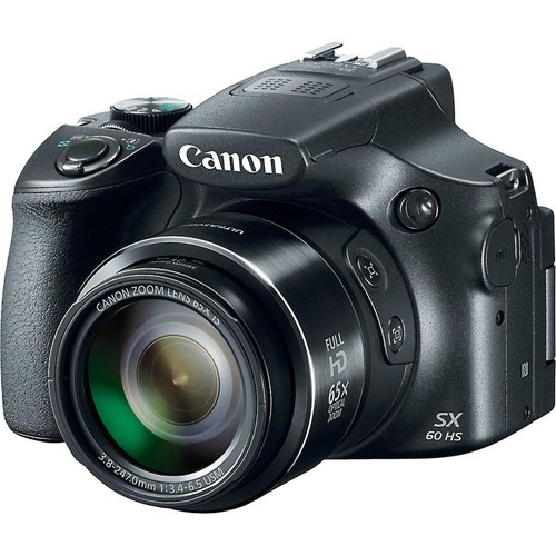 Canon PowerShot SX60 HS 16-megapixel digital camera with 65X optical zoom and Wi-Fi