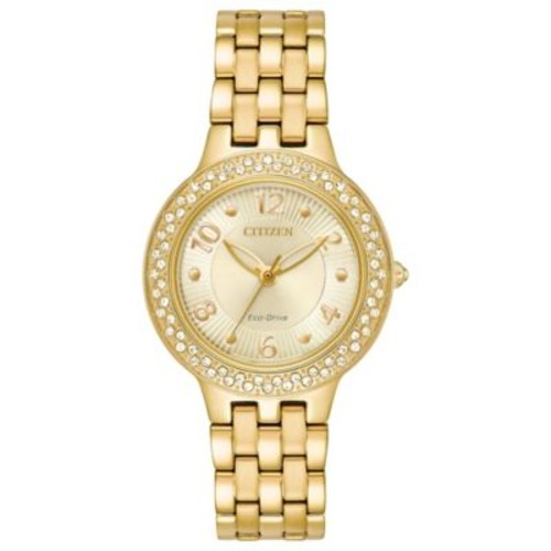 Citizen Silhouette Ladies' 31mm Swarovski Crystal Watch in Goldtone Stainless Steel