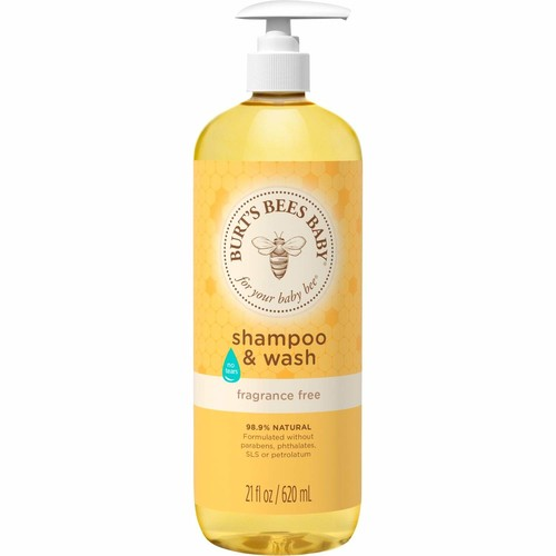 Burt's Bees Baby Bee Fragrance Free Shampoo and Wash, 21 Fluid Ounces [Fragrance Free]