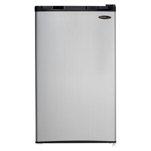 DANBY DCR032C1BSLD 3.2 cu. Ft. Compact Refrigerator with Freezer [3.2 cu.ft. Spotless Steel]