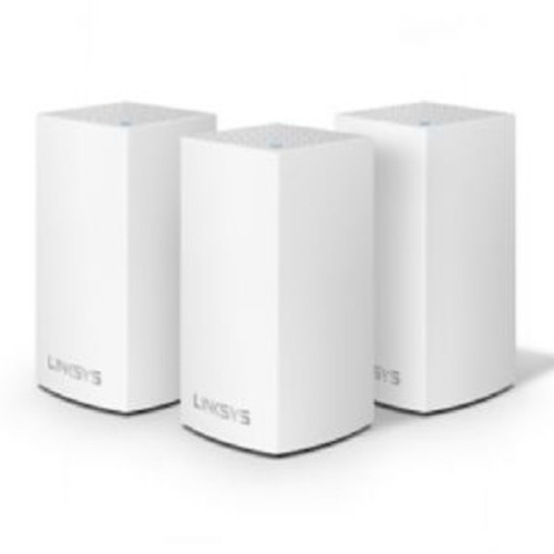 Linksys VELOP Whole Home Mesh Wi-Fi System - Dual-band, 802.11a/b/g/n/ac, Bluetooth 4.1 LE, 867+400Mbps Speed, 2.4GHz+5GHz Band, up to 1500sq ft Range, 3x Internal Antennas, 3-Pack, White - WHW0103