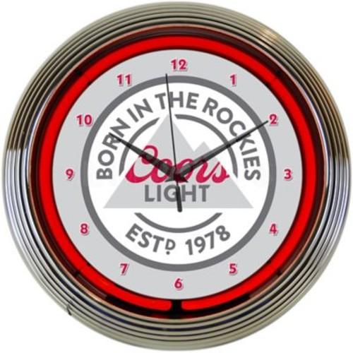 Neonetics 15'' Coors Light Beer Born in The Rockies Neon Clock