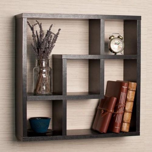 DanyaB Geometric Square Wall Shelf