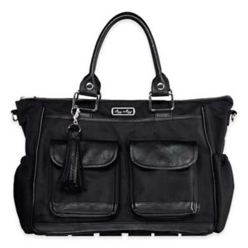 Itzy Ritzy Covertible Diaper Bag in Black Herringbone