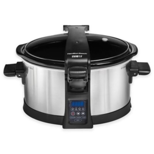 Hamilton Beach Set & Forget Programmable 6 qt. Slow Cooker with Clip-Tight Lid