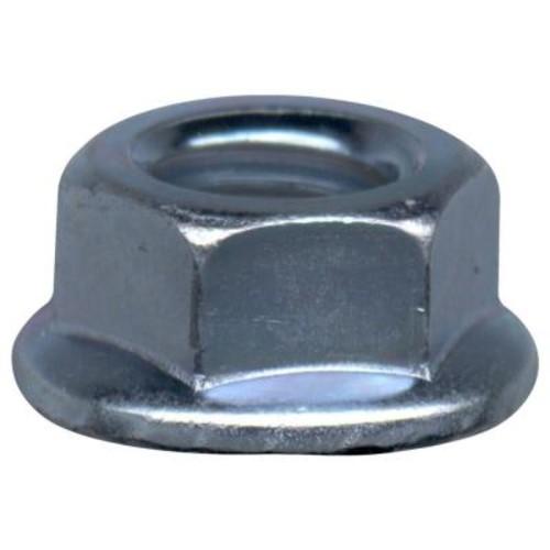 Everbilt 1/2 in. x 13 tpi Serrated Zinc-Plated Steel Lock Nut