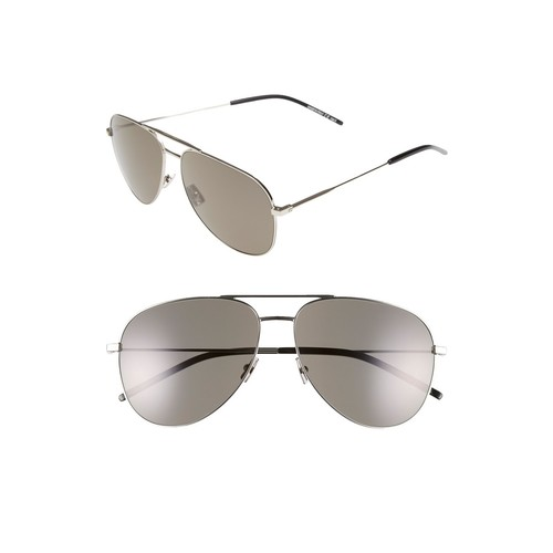 SAINT LAURENT 'Classic' 59Mm Aviator Sunglasses
