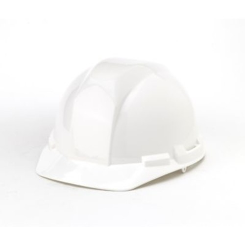 Mutual Industries 4-Point Pin Lock Suspension Hard Hat, White