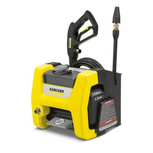 Karcher 1700 PSI Cube Electric Power Washer in Yellow/Black