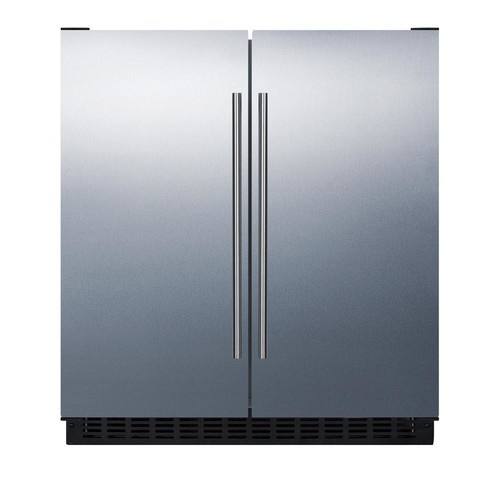 Summit 30 in. 5.4 cu. ft. Built-In Side by Side Refrigerator in Stainless Steel, Counter Depth