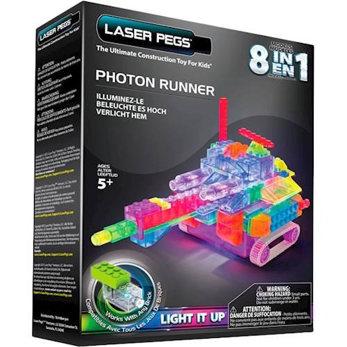 LASER PEGS - 8-In-1 Photon Runners Construction Set