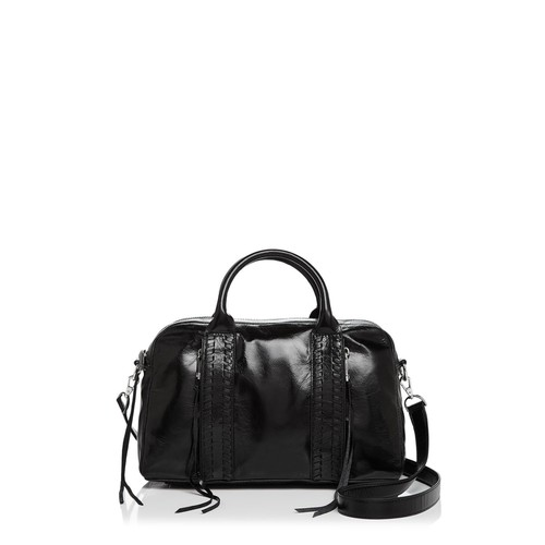 REBECCA MINKOFF Vanity Zip Leather Satchel