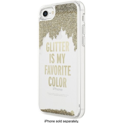 kate spade new york - Clear Liquid Glitter Case for Apple iPhone 7 - Gold/Glitter is My Favorite Color