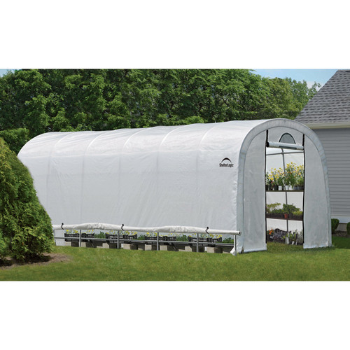 ShelterLogic GrowIT Heavy-Duty Round Greenhouses  12ft.W x 24ft.L x 8ft.H, Model# 70593