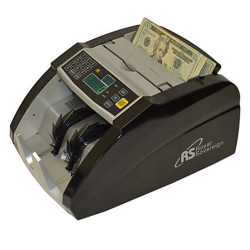 Royal Sovereign RBC-660 Electric Bill Counter, 130 Bill Capacity, Black/Silver