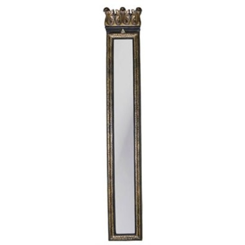 Hickory Manor House Acanthus Strip Mirror; Old Black G