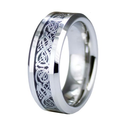 Grooved Superior Cobalt Ring with Step Down Edge [option : 12]