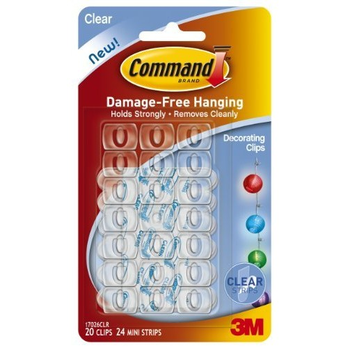 Command Decorating Clips, Clear, 20-Clip, 6-Pack [Clear, 120 Clips]