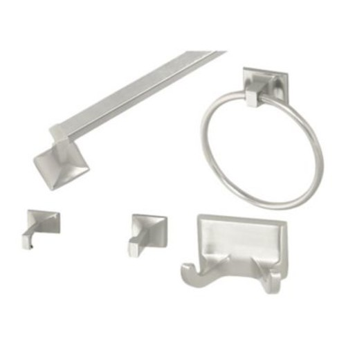 Design House Millbridge 4 Piece Bathroom Hardware Set; Satin Nickel