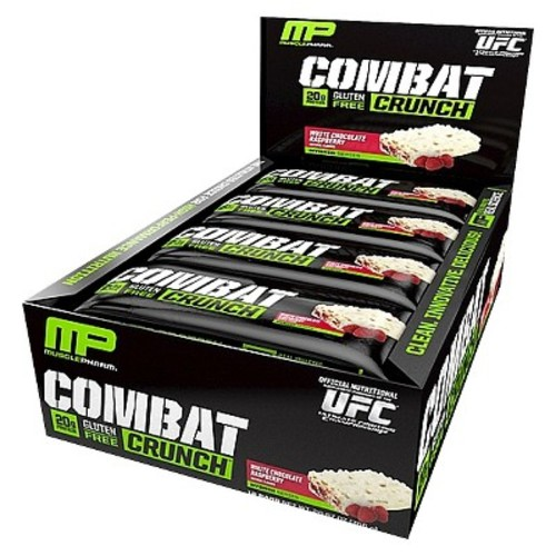Muscle Pharm Combat Crunch White-Chocolate Raspberry Protein Bar - 12 Count