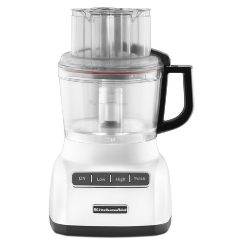 KitchenAid KFP0922WH 9-Cup Food Processor with Exact Slice System - White [White]