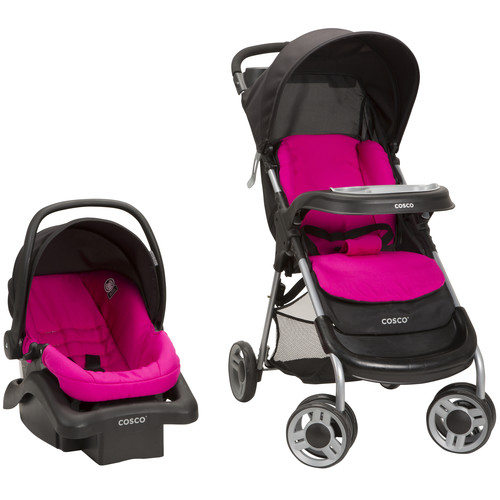 Cosco Lift & Stroll Travel System - Very Berry