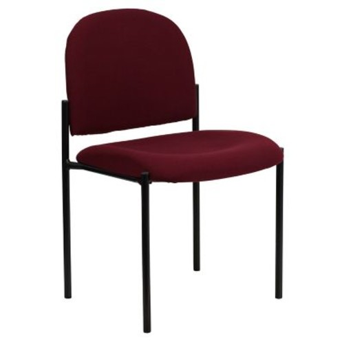 Flash Furniture Fabric Stackable Steel Side Chair, Burgundy, 15/Pack