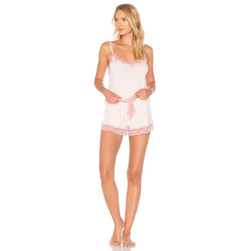 Flora Nikrooz Snuggle Cami & Short Set in Misty Pink