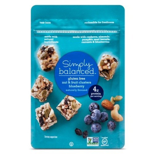 153; Blueberry Nut Clusters Snack Mixes 3oz - Simply Balanced