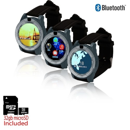 Indigi 2017 Unlocked SmartWatch & Phone [Text/Call Notifcation + Alarm + Pedometer] + 32gb SD