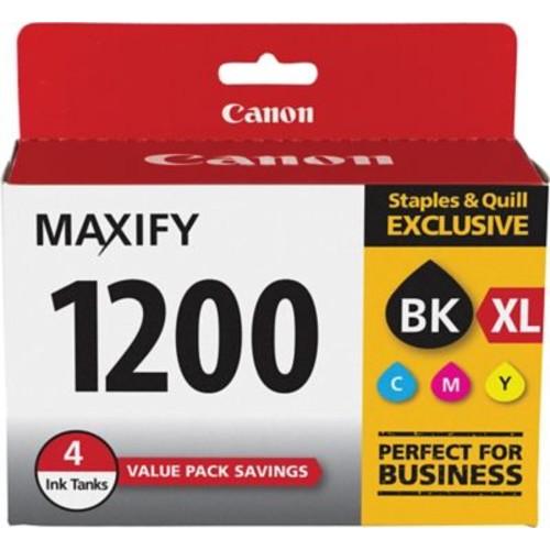 Canon PGI-1200 XL Black High Yield/ PGI-1200 Color C/M/Y Standard Ink Cartridges (9183B005), 4/Pack