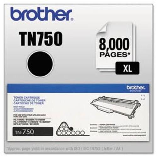 Brother BRTTN750 TN750 (TN-750) High-Yield Toner, 8000 Page-Yield, B