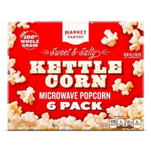 Sweet & Salty Kettle Corn 6 ct - Market Pantry