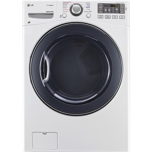 LG - TrueSteam 7.4 Cu. Ft. 12-Cycle Electric Dryer with Steam - White