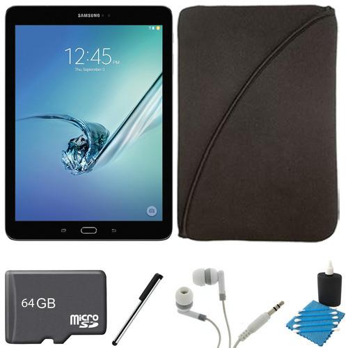 Samsung Galaxy Tab S2 9.7-inch Wi-Fi Tablet (Black/32GB) 64GB MicroSD Card Bundle