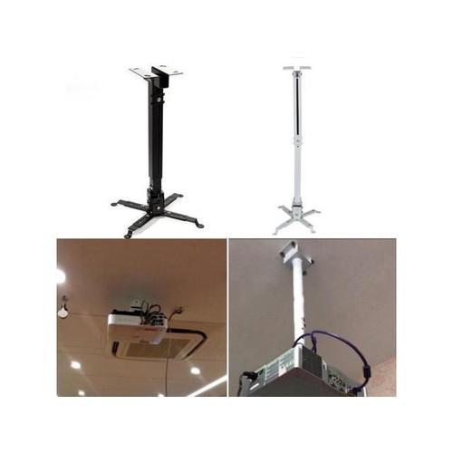 Universal Projector Bracket Retractable Extendable Adjustable Ceiling Mount Wall Bracket 5kg Loading Capacity Hanging Bracket White