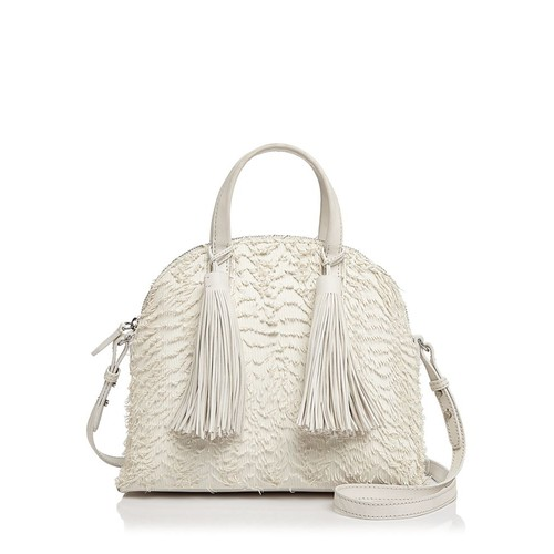 LOEFFLER RANDALL Dome Fringe Leather Satchel