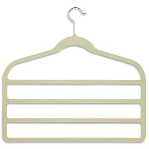Honey-Can-Do Velvet Touch 4-Step Pant Hanger- Camel (10-Pack)