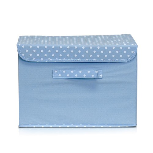 Llytech Inc Non-Woven Fabric Blue Storage Bin with Lid