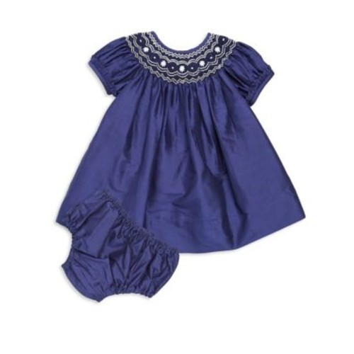 Baby's Two-Piece Katherine Silk Dress and Bloomers Set