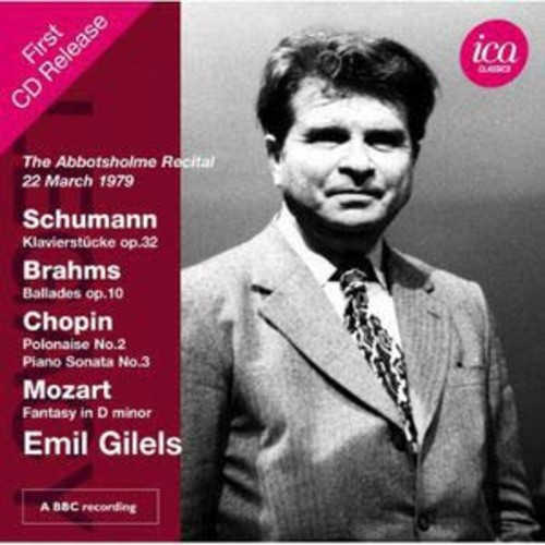 The Abbotsholme Recital, 22 March 1979 By Emil Gilels (Audio CD)