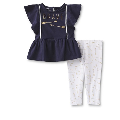 WonderKids Infant & Toddler Girls' Ruffle Peplum Top u0026 Leggings [Age : Infant]