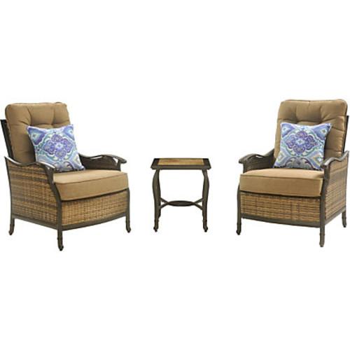 Hanover Square 3-Piece Seating Set, Tan