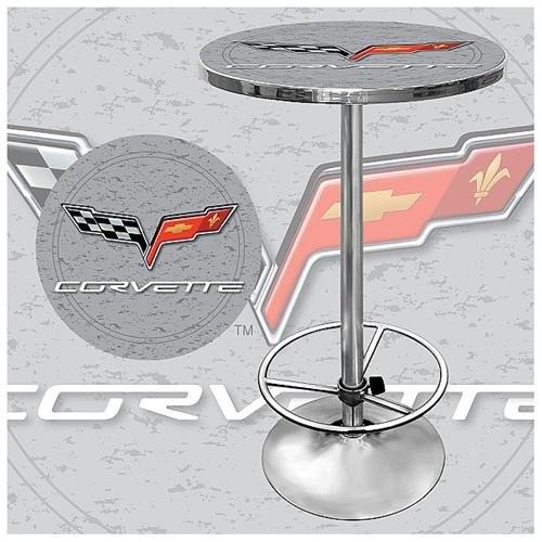 Trademark Global Corvette C6 Pub Table - Silver